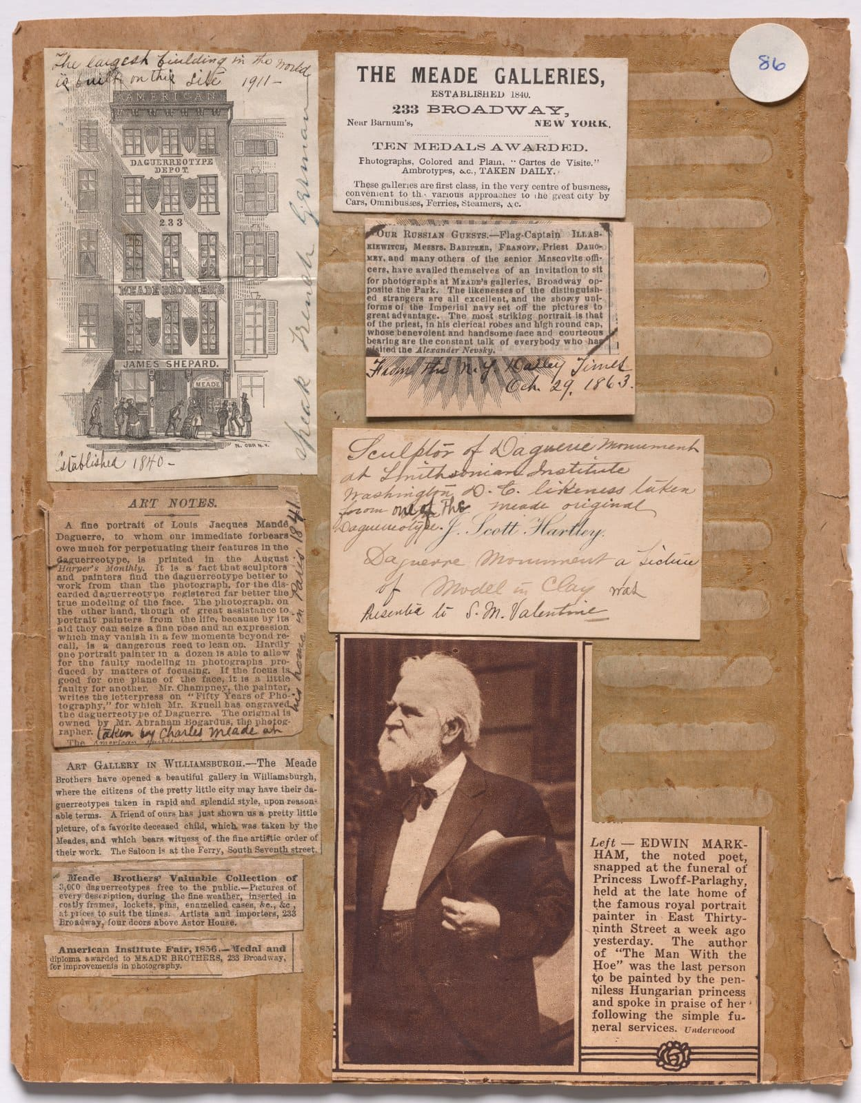 Antique scrapbook pages - Meade Bros