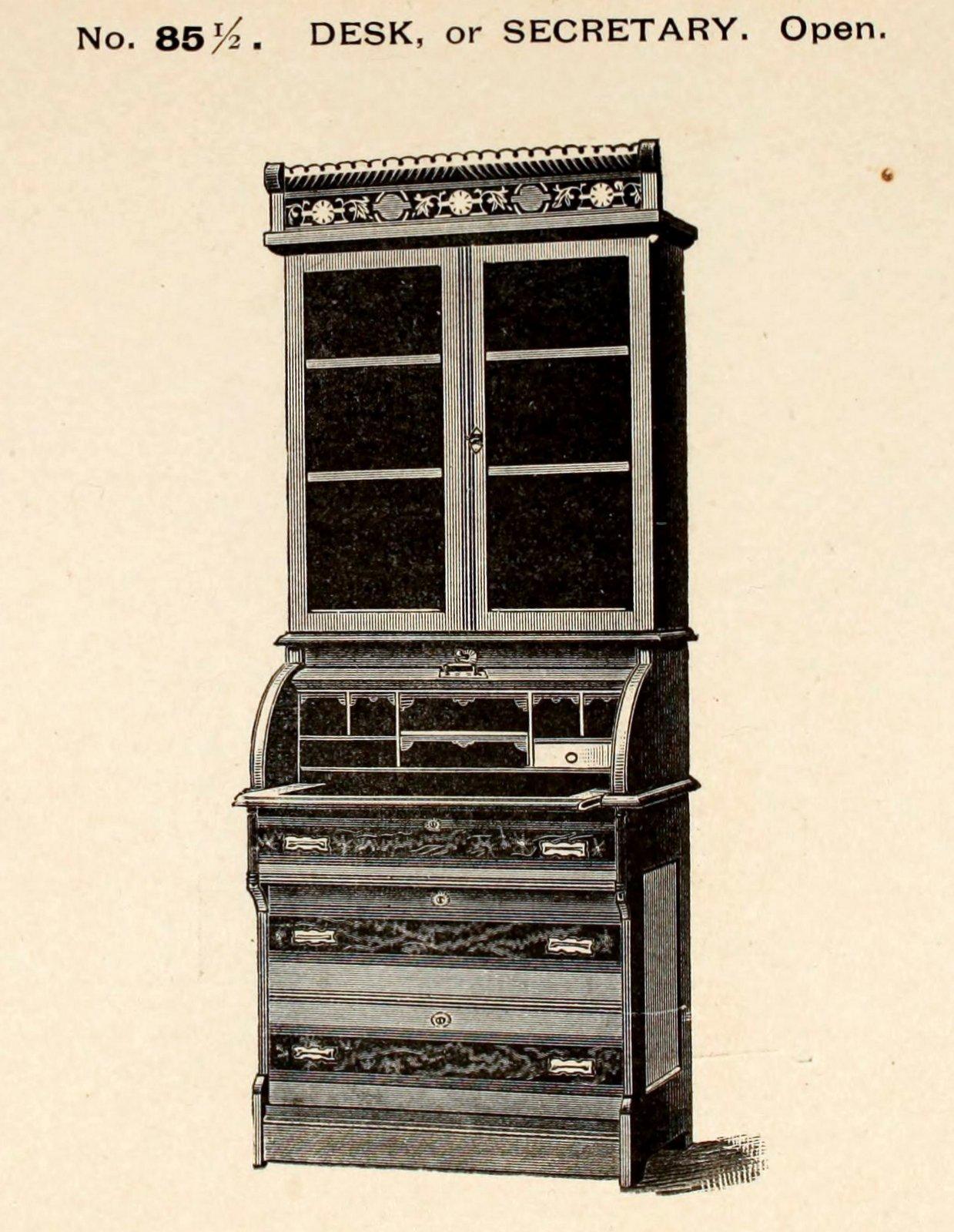 Antique secretary desk from 1887 (1)
