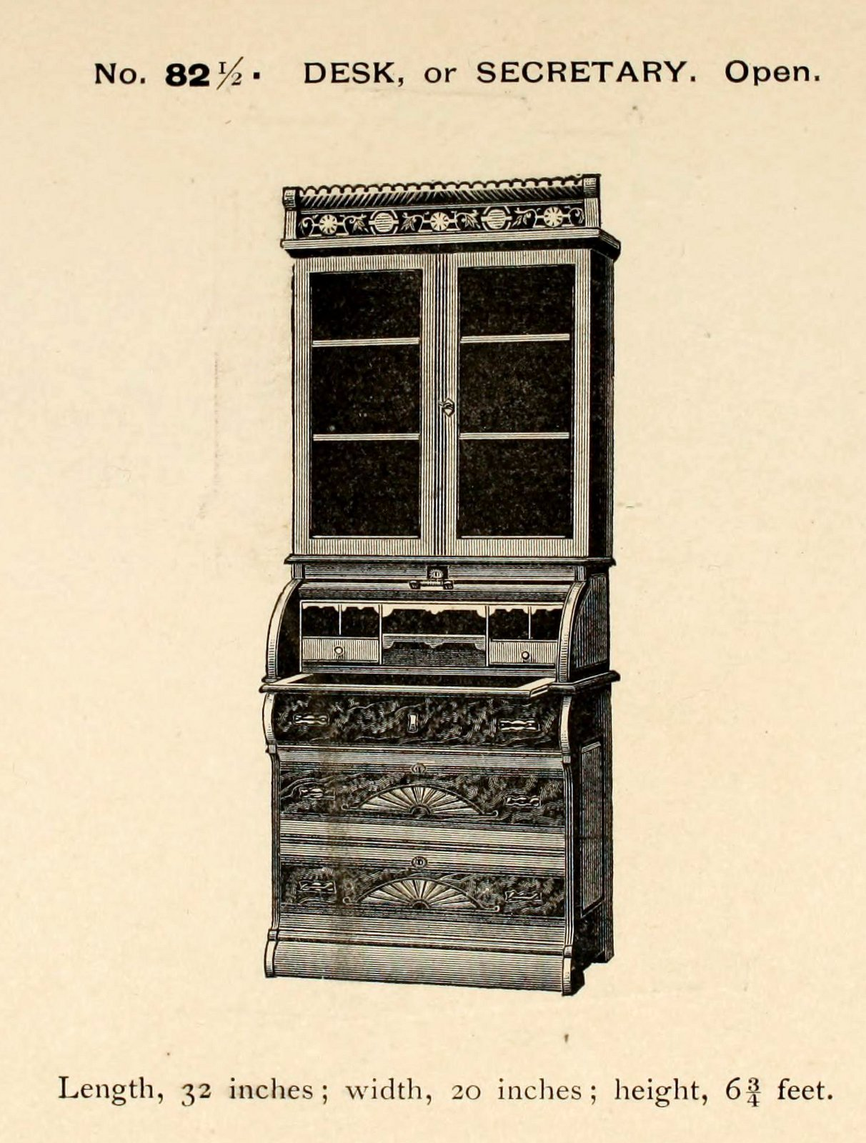 Antique secretary desk from 1887 (2)