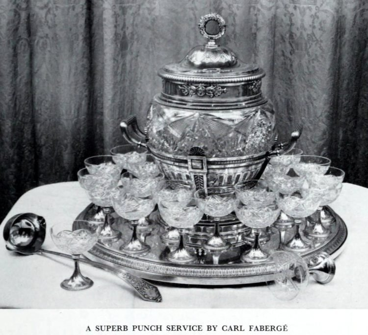Antique silver punch service by Carl Faberge