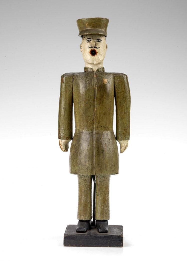 Antique foreign soldier figurine