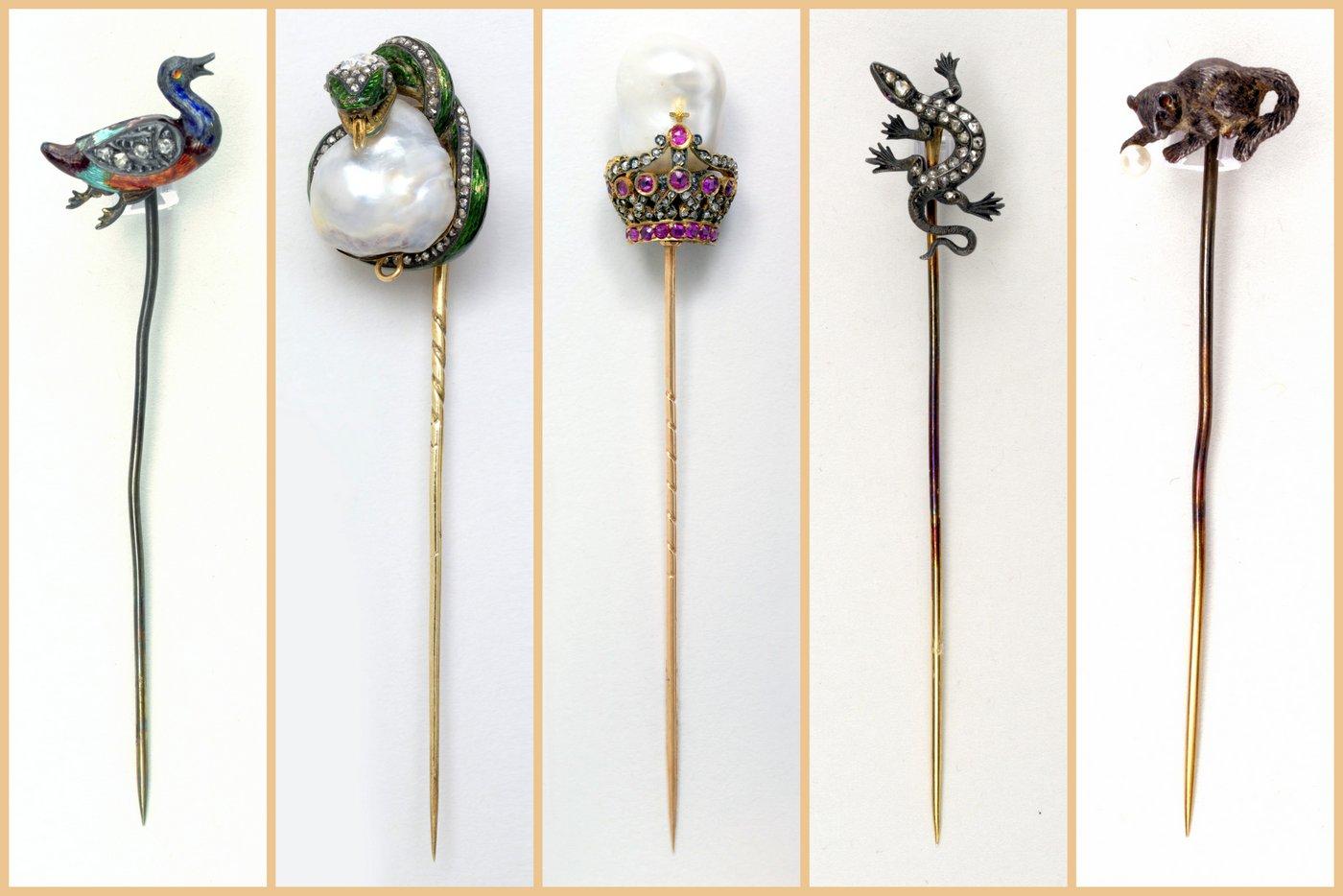 Antique stickpins and scarf pins