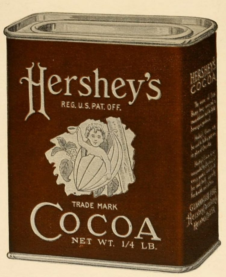 Antique tin of Hershey's Cocoa
