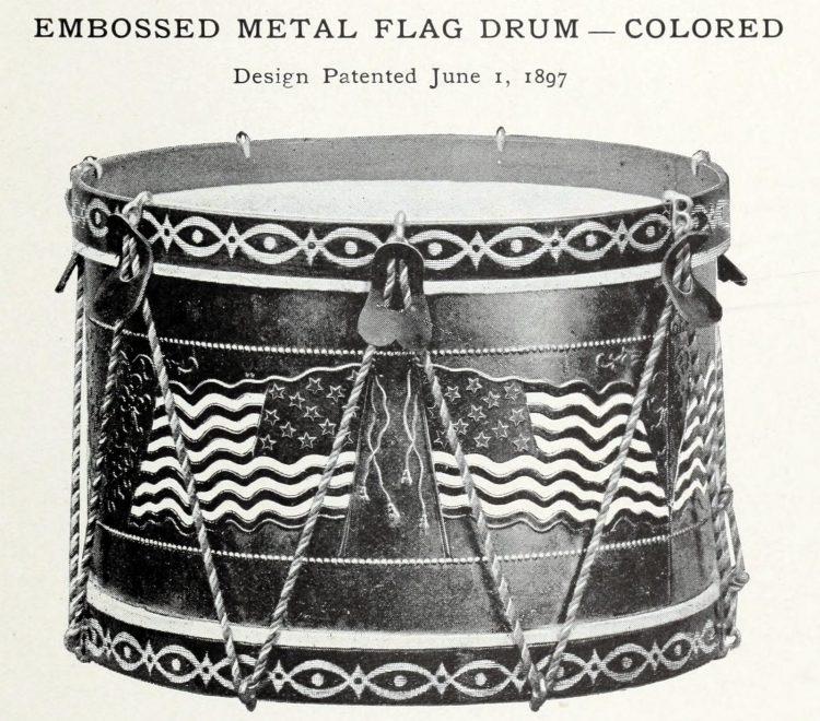 Antique toy drum (2)