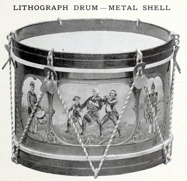 Antique toy drum (3)