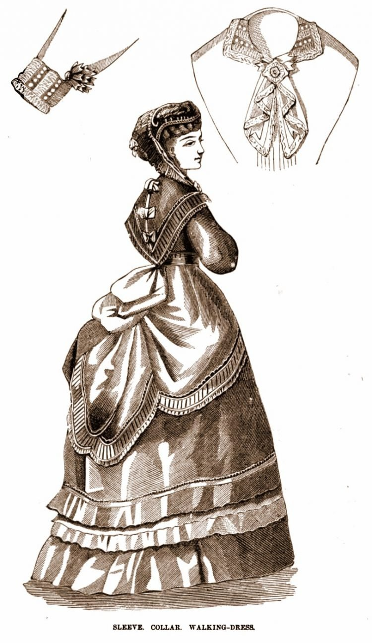 Antique walking dresses from 1869 (1)