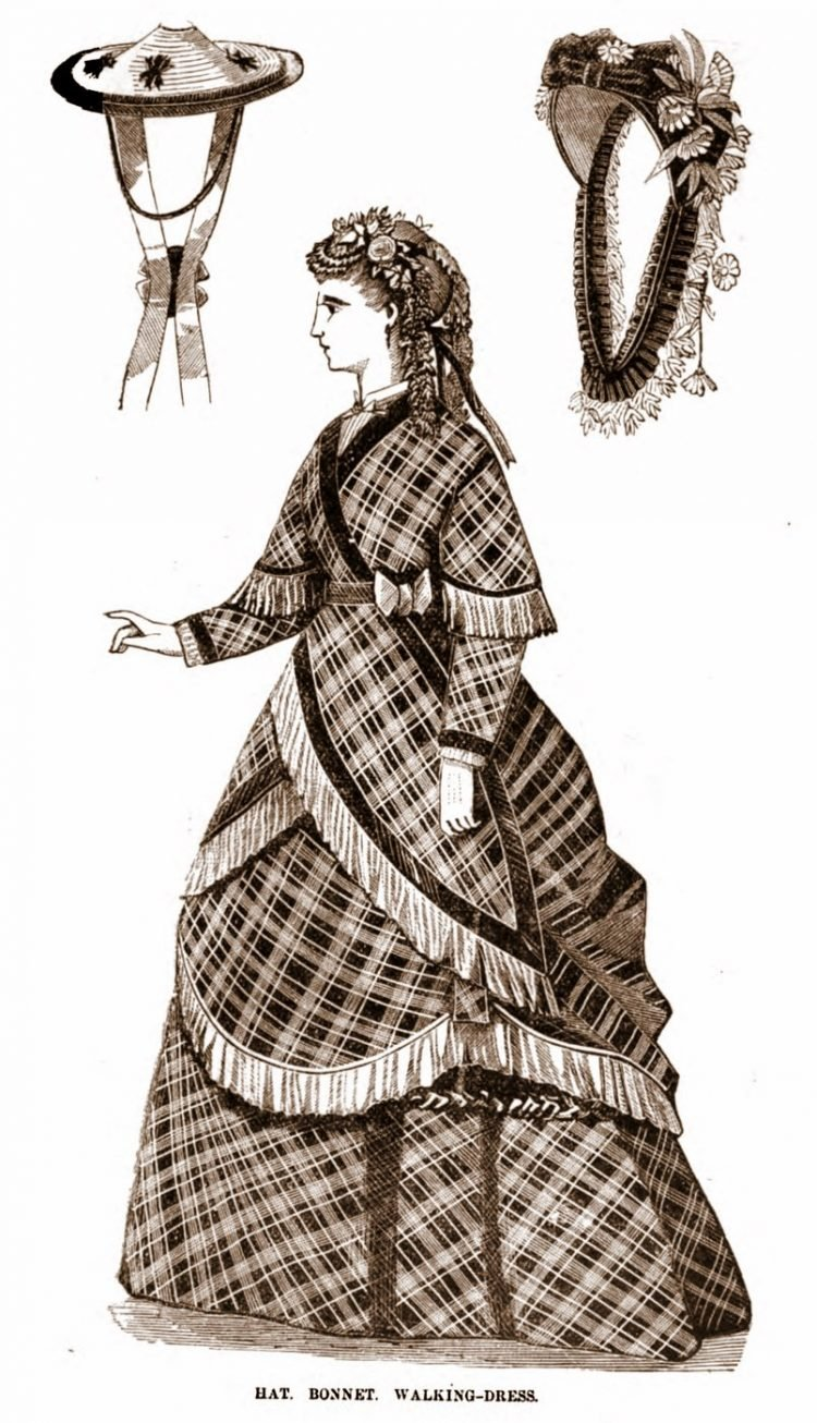 Antique walking dresses from 1869 (2)