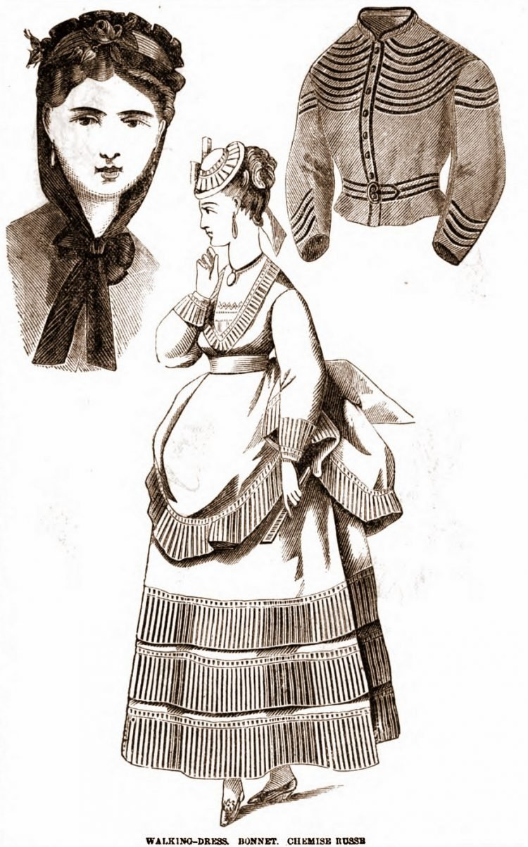 Antique walking dresses from 1869 (5)