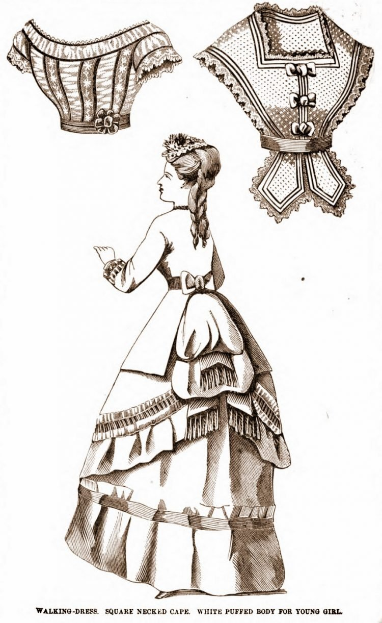 Antique walking dresses from 1869 (8)