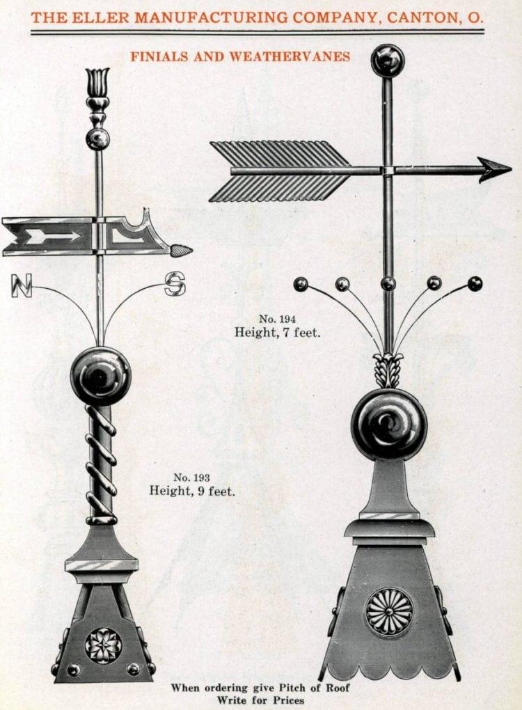 Antique weathervanes