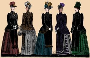 Antique women's fashion from 1890 See the clothes Victorian ladies were wearing for winter