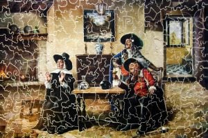Antique wood jigsaw puzzle 1930s