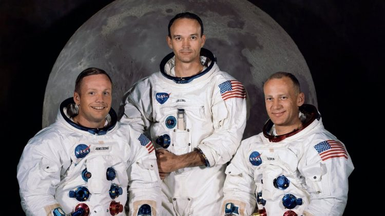 Apollo 11 astronauts for 1969 moon landing