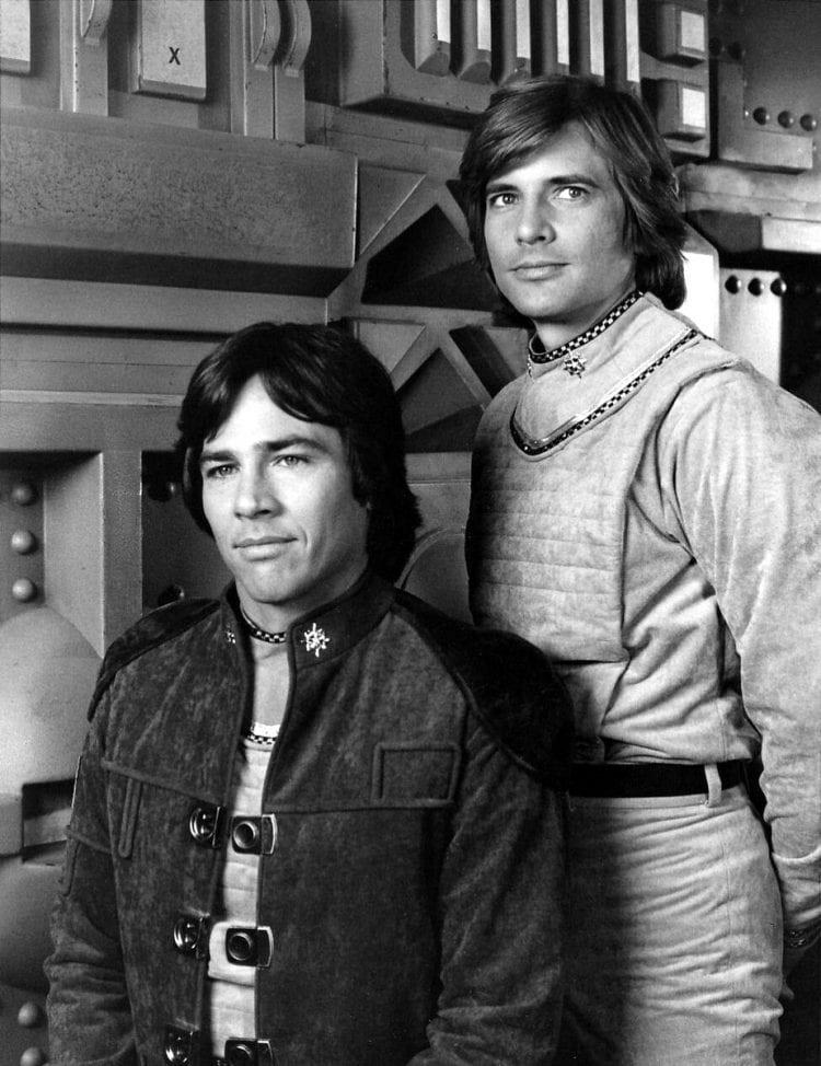 Apollo and Starbuck - Battlestar Galactica vintage TV show 1978