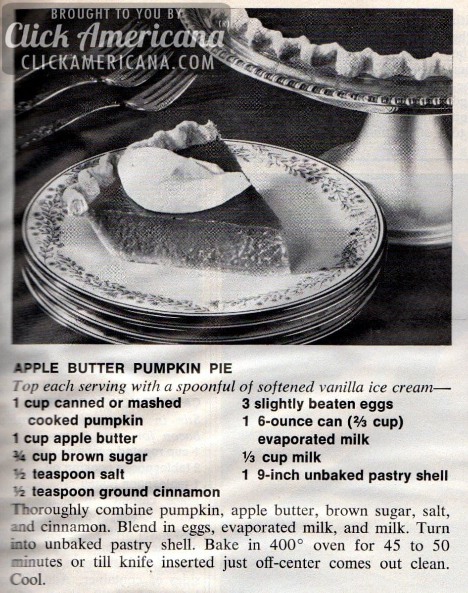 Apple Butter Pumpkin Pie (1972)