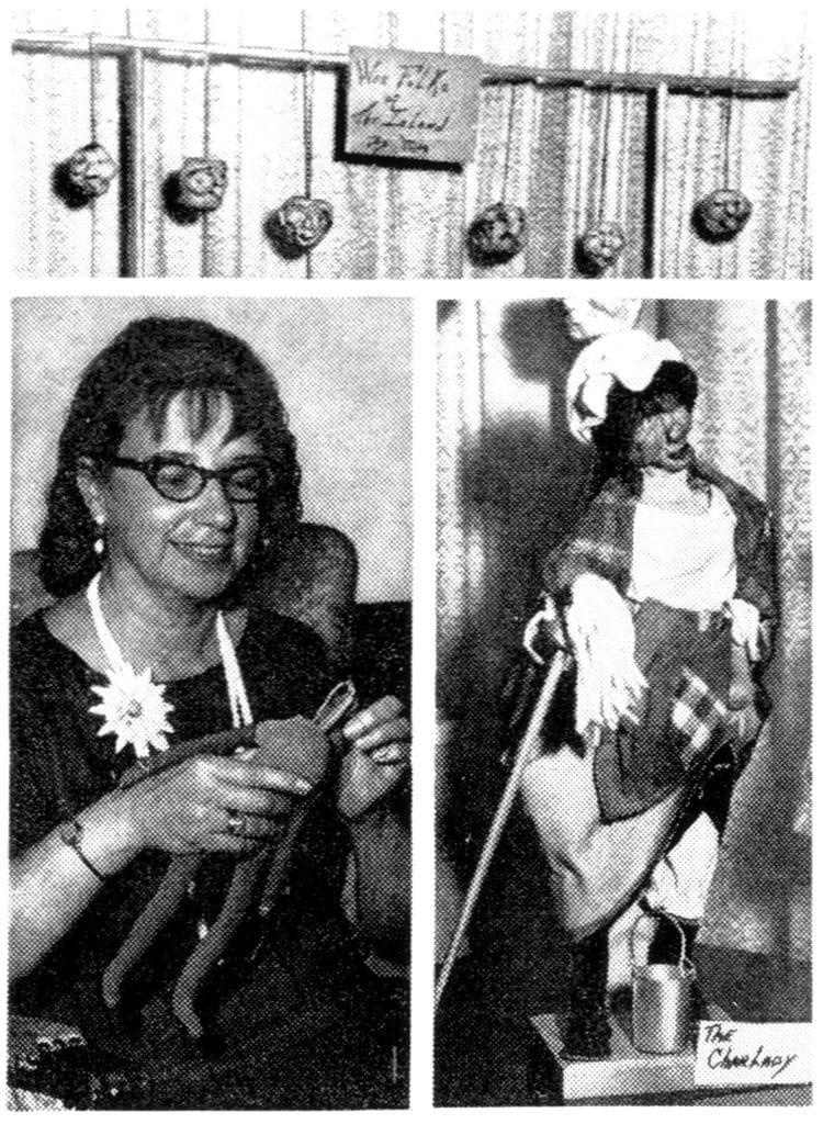 She makes apple head dolls - Head shrinker preserves art 1970