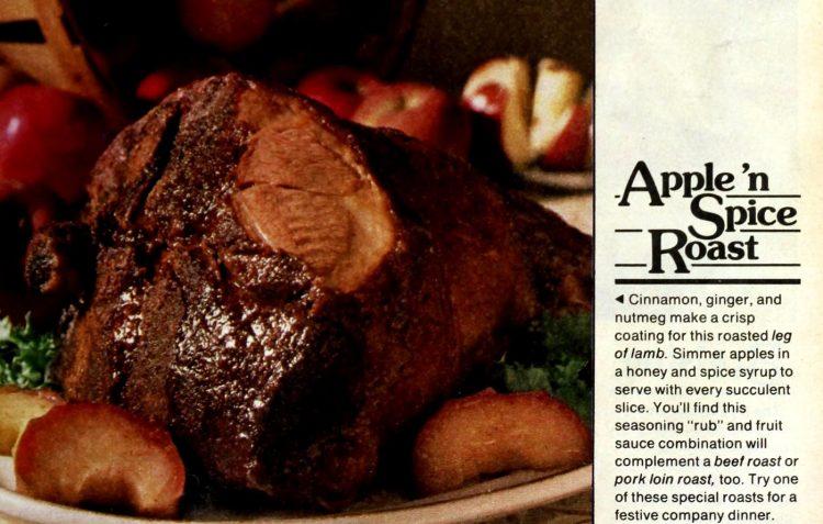 Apple n spice roast Lamb vintage recipe