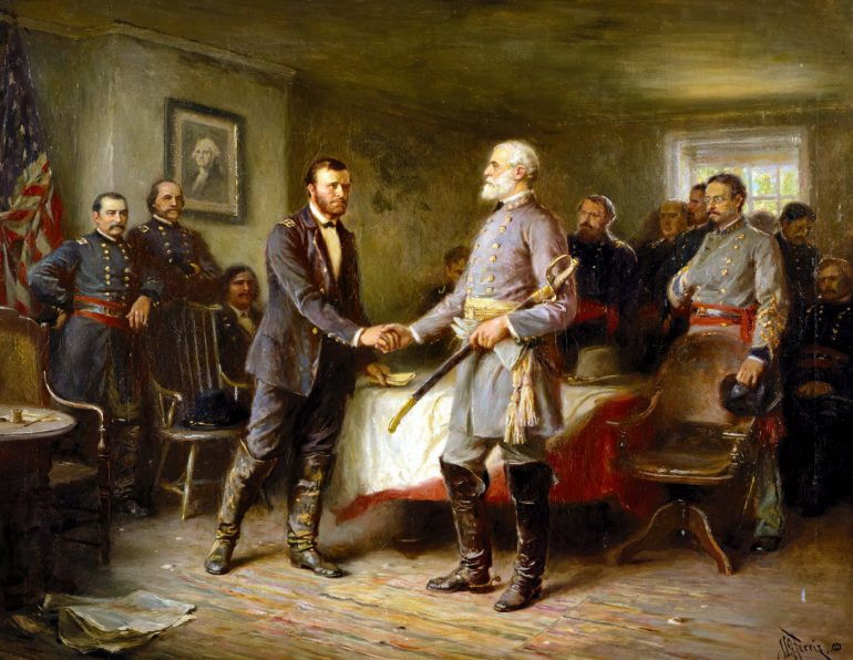 Appomattox Court House - Grant and Lee - Let Us Have Peace by Jean Leon Gerome Ferri