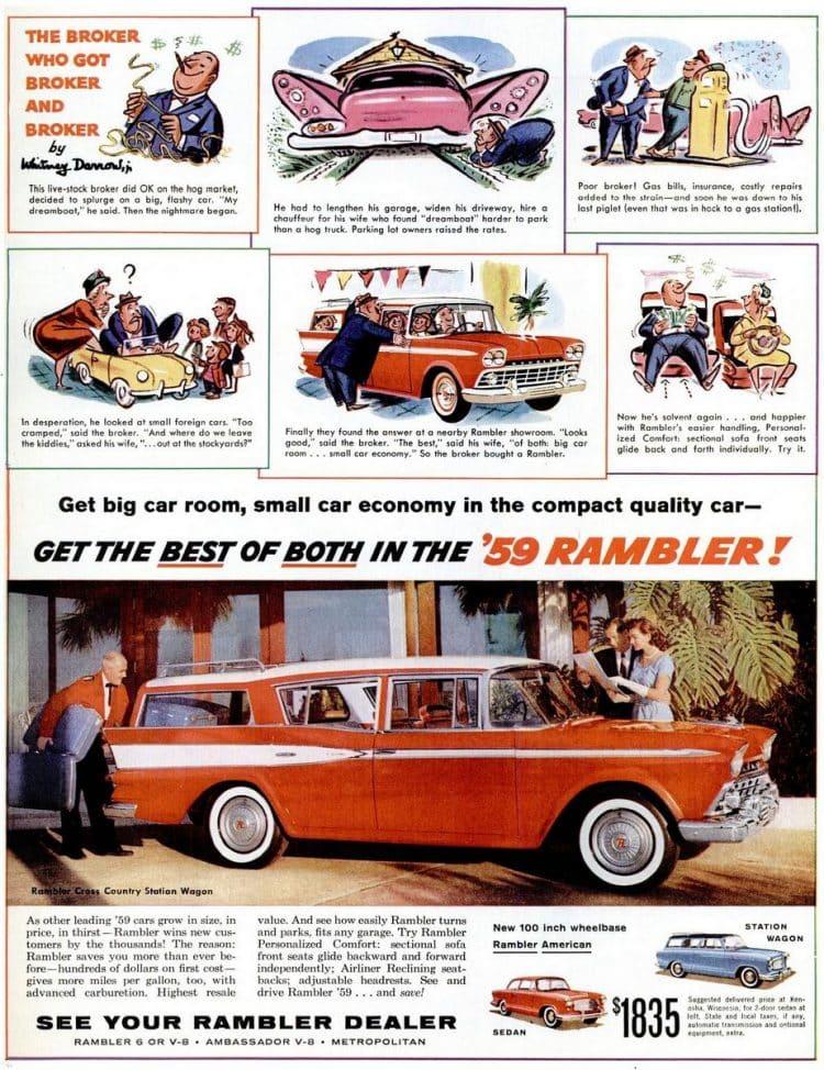 Apr 20, 1959 Rambler cars