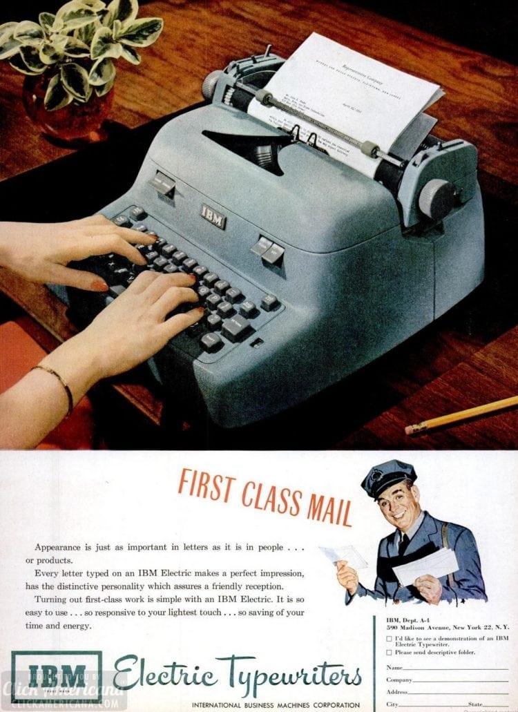 Apr 23, 1951 IBM electric typewriter