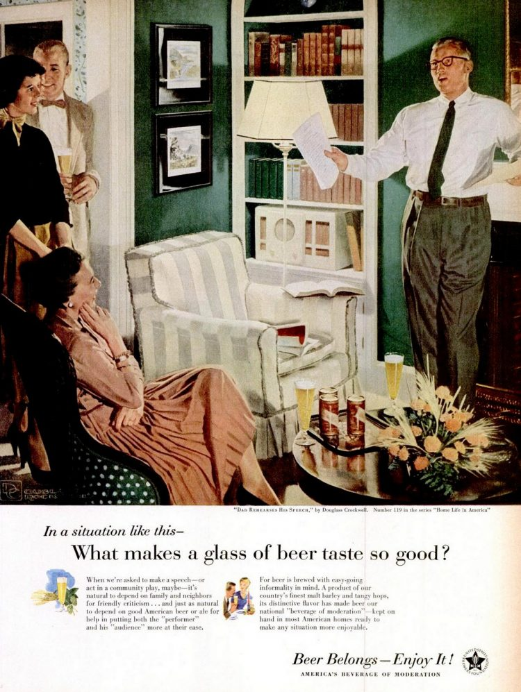 Apr 23, 1956 Beer belongs - enjoy it