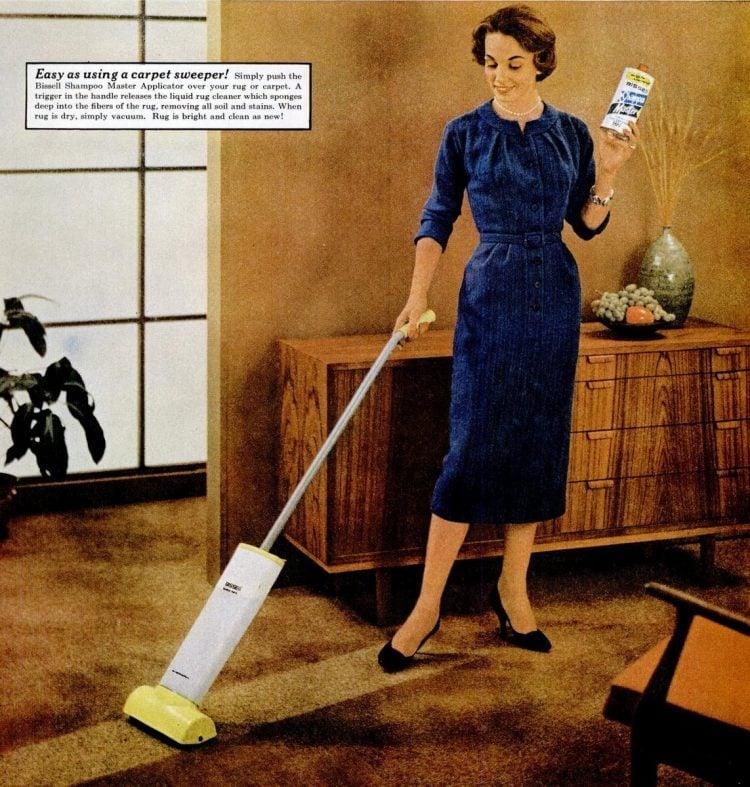 Apr 7, 1958 Vacuum home housewife