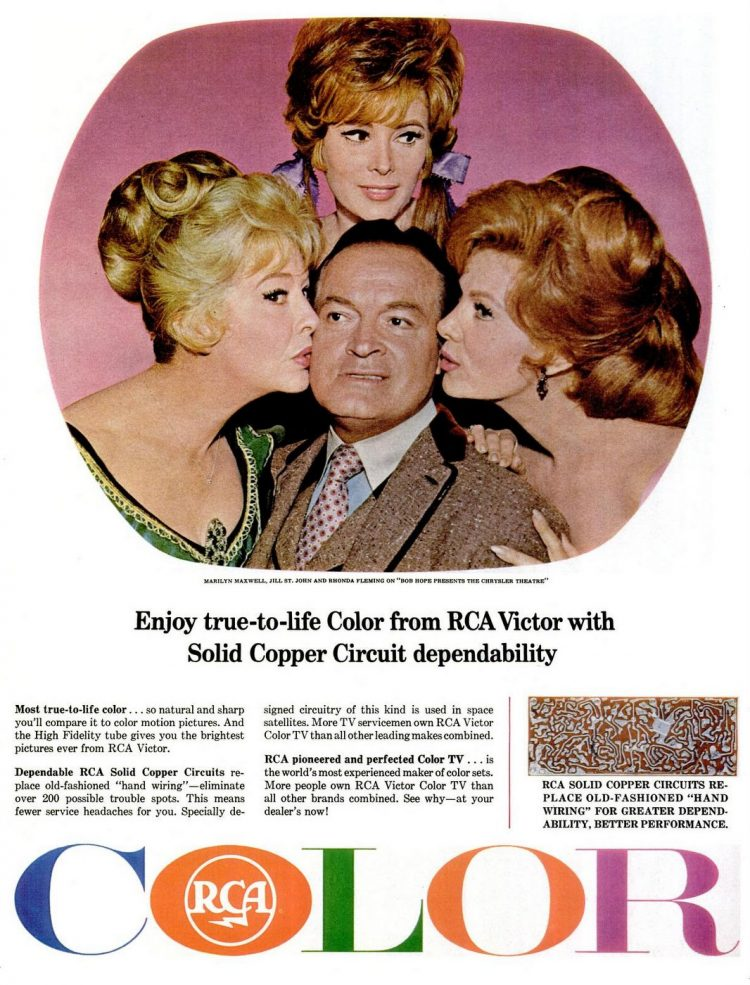 Apr 9, 1965 Bob Hope - Color TV tech