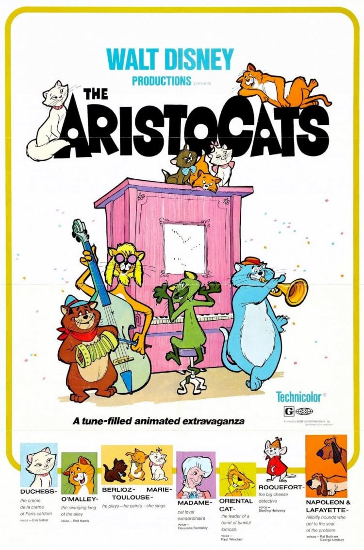 Aristocats Disney movie 1970