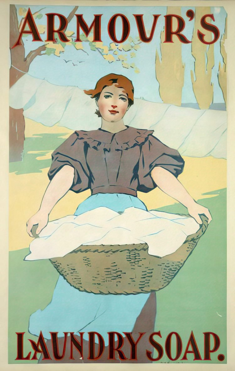 Armour's Laundry Soap antique ad poster