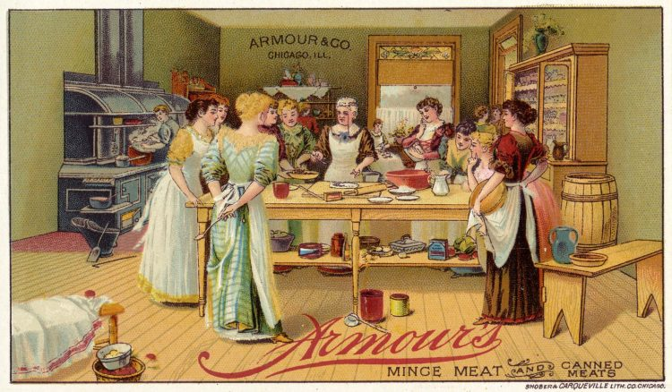 Armour's mince meat and canned meats card c1880
