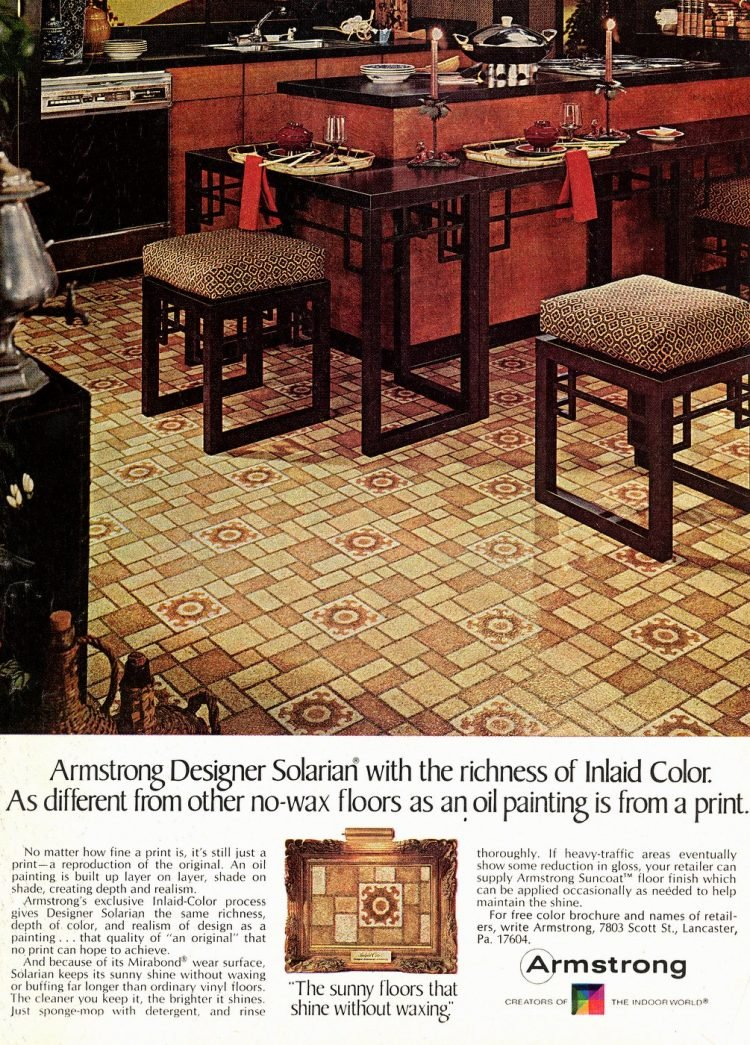 Armstrong designer Solarian no-wax floors from 1978