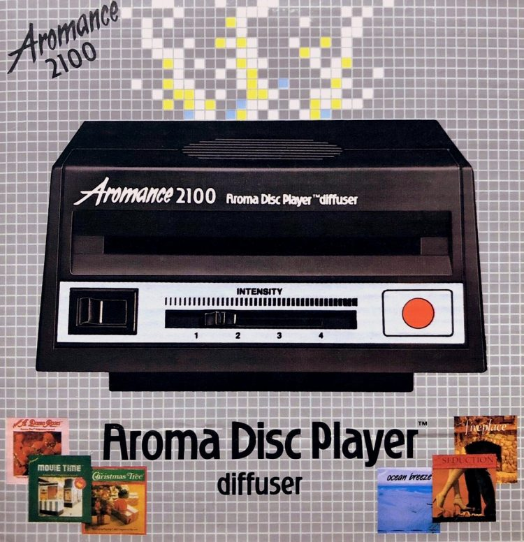 Aroma Disc The '80s high-tech version of scented candles