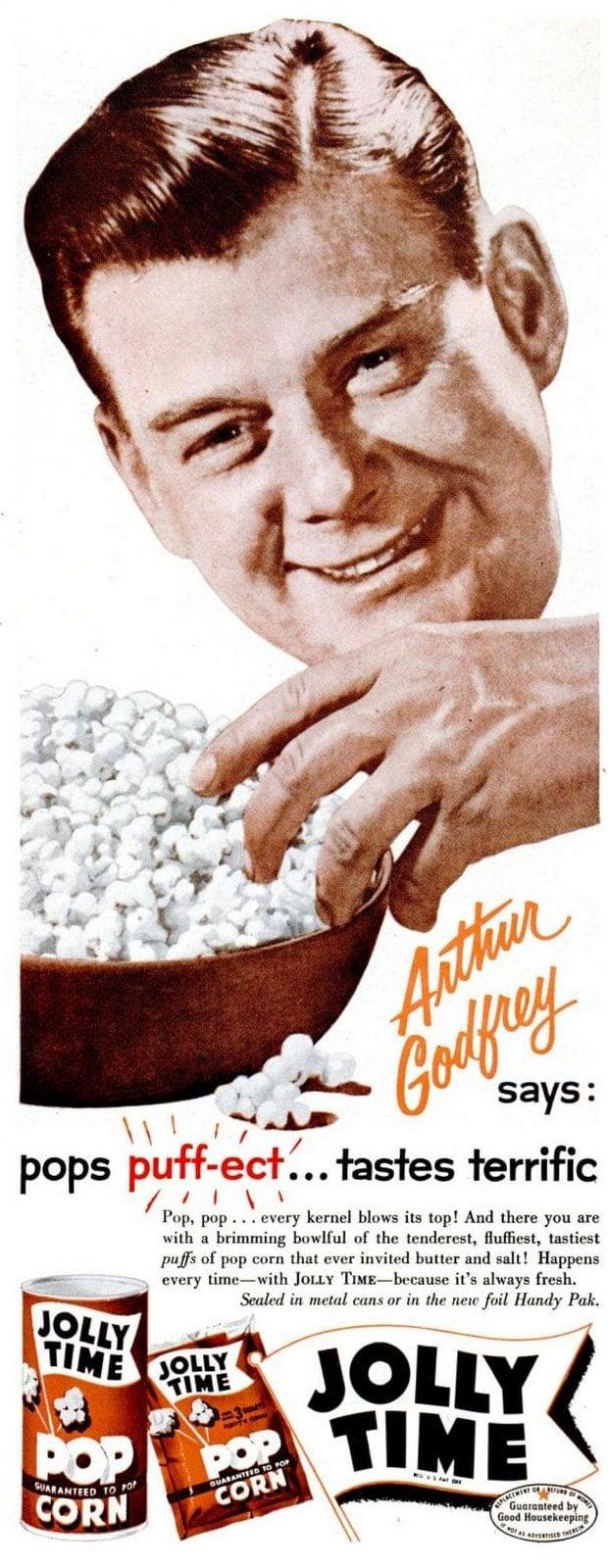 Arthur Godfrey for Jolly Time Pop Corn (1956)