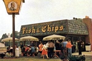 Arthur Treacher's Fish and Chips fast food restaurants 1969