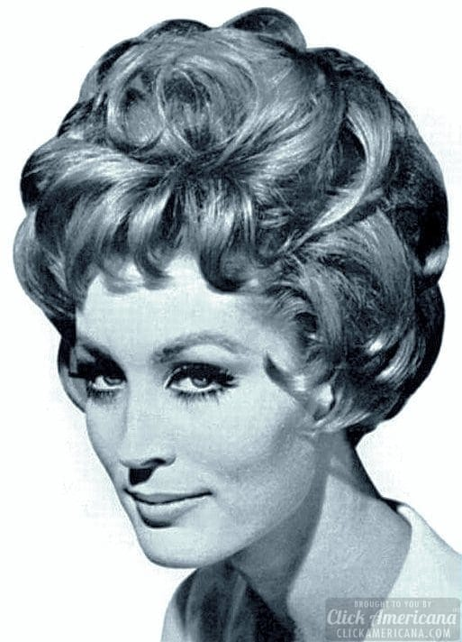 Artichoke hairstyle c1961