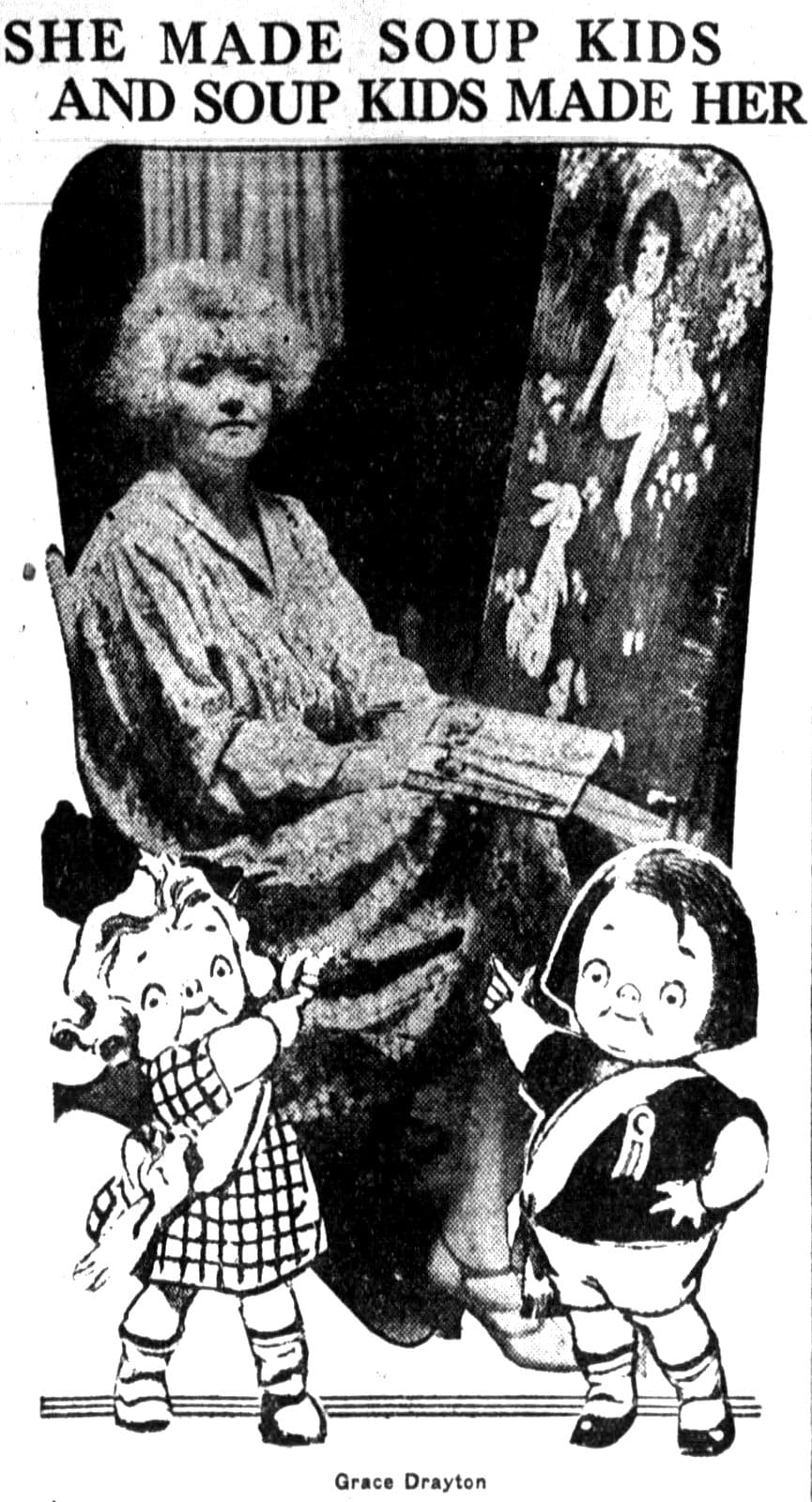 Artist Grace Drayton and Campbell's Soup Kids (1926)