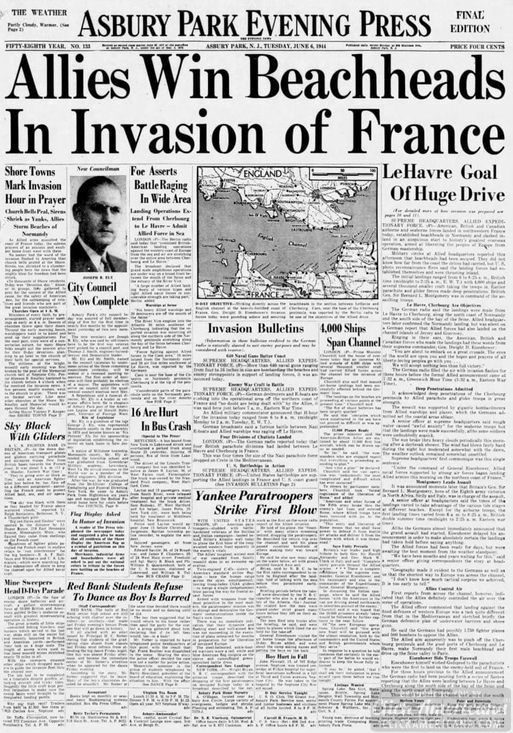 Allies Win Beachheads in Invasion of France