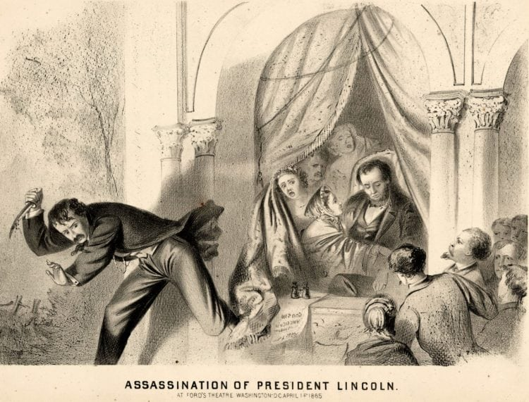 Assassination of President Lincoln at Ford's Theatre Washington, DC April 14 1865