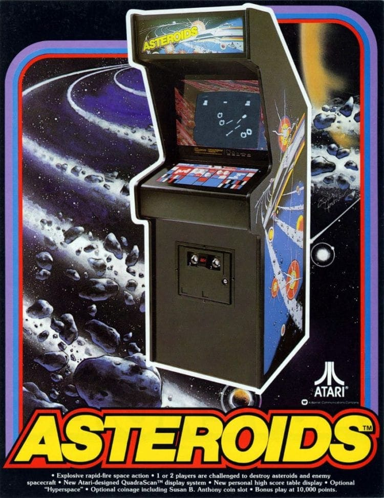 Asteroids arcade video game