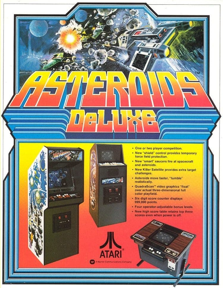 Asteroids video games arcade 1981