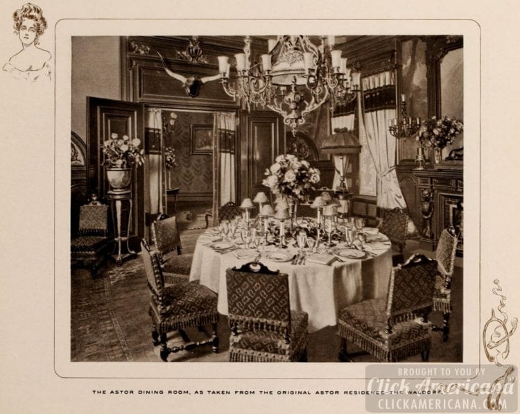Astor dining room at the Waldorf Hotel in New York - 1903