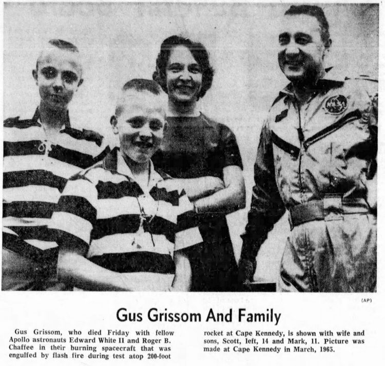 Astronaut Gus Grissom and family