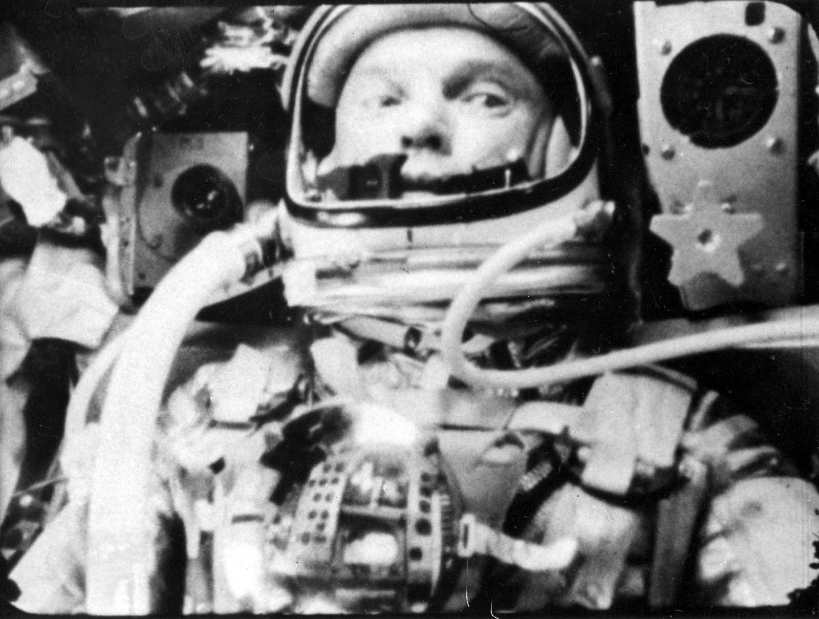 Astronaut John Glenn in a State of Weightlessness During Friends