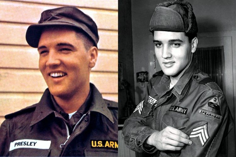 At the height of his fame, Elvis Presley was drafted into the US Army (1958)