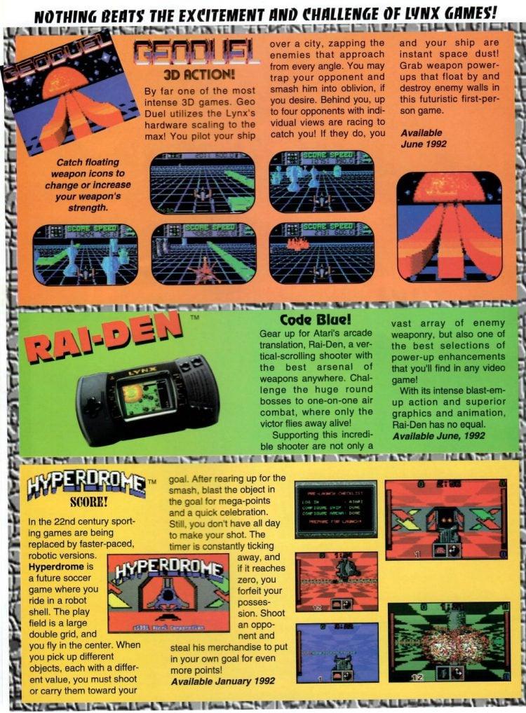 Atari Lynx II Launch Promo Special 1991 (1)