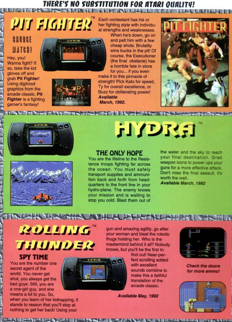Atari Lynx II Launch Promo Special 1991-25