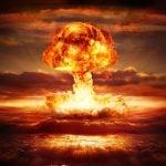 Atomic bomb explosion digital illustration