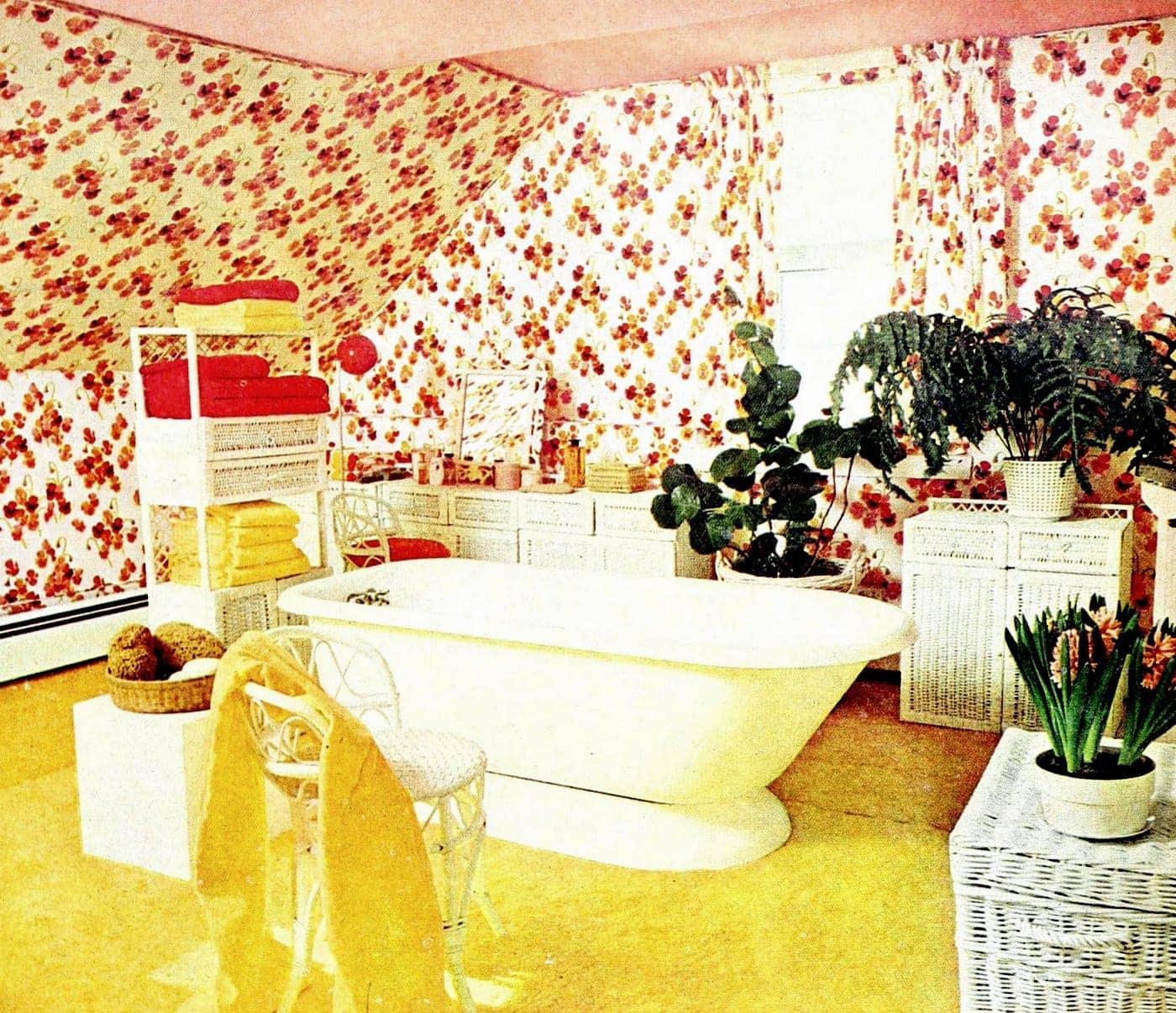 Attic bathroom style from 1974