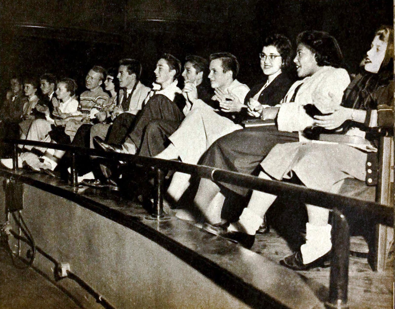 Audience for Bill Haley and His Comets concert - 1950s