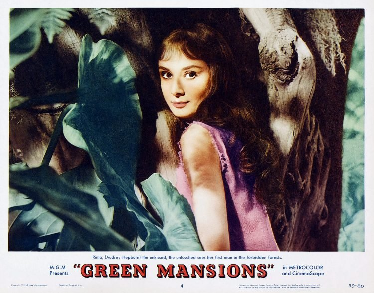 Audrey Hepburn Green Mansions movie lobby card